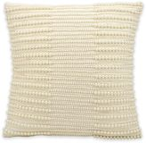 Kathy Ireland Home® by Gorham Pearl Stripes Square Throw Pillow in Ivory