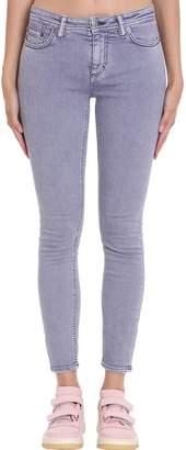 Acne Studios Climb Tinted Jeans In Grey Denim