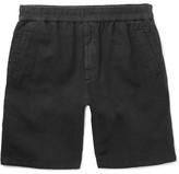 Folk Cotton and Linen-Blend Drawstring Shorts