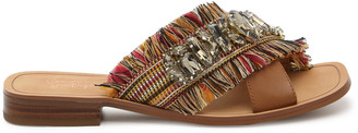Crown Vintage Women's Somaya Sandals Multicolor Size 5 Woven fabric / faux leather upper From Sole Society