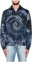 Valentino Blue Tie&dye Hood Sweatshirt