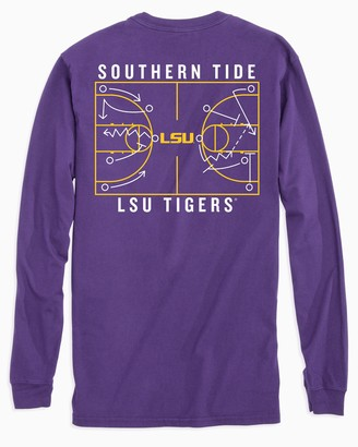 Southern Tide LSU Tigers Long Sleeve Basketball T-Shirt