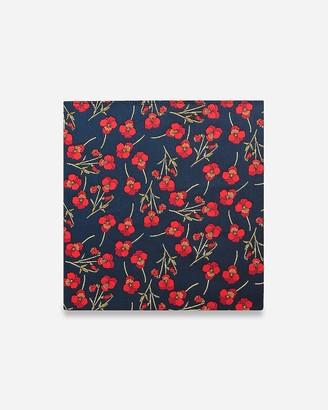 Express Pocket Square Clothing Nathalie Navy Floral Pocket Square