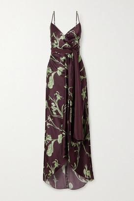 Johanna Ortiz Net Sustain Given Promise Printed Silk-satin Maxi Dress - Brown