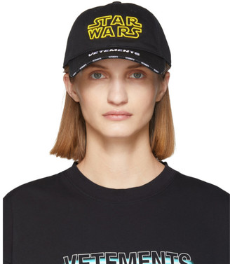 Vetements Black STAR WARS Edition Logo Cap
