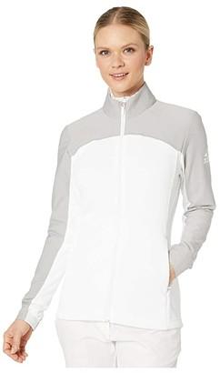 adidas Go-To Adapt Jacket (White/Medium Solid Grey) Women's Coat