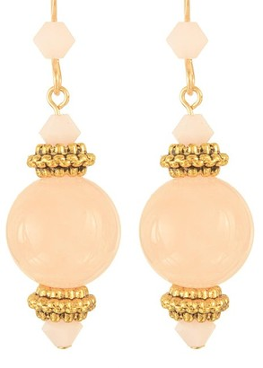 Ardent Designs Handmade Gold Filled 'Pink Grapefruit Blossom' Earrings