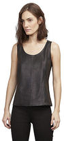 Kenneth Cole Leather Shell Top