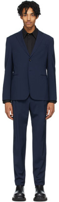 Giorgio Armani Navy Wool 2 Button Suit