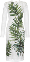 Dolce & Gabbana Palm Leaf Mesh Dress