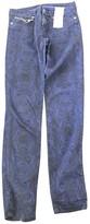 Maje Blue Cotton Trousers