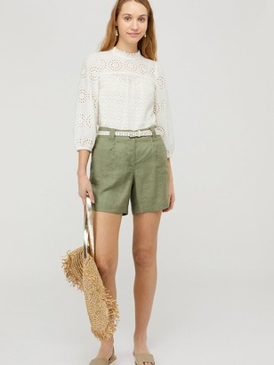 Monsoon Lottie 100% Linen Short