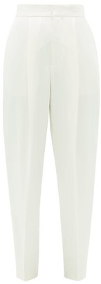 Dundas High-rise Satin Cigarette Trousers - Ivory