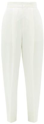Dundas High-rise Satin Cigarette Trousers - Ivory