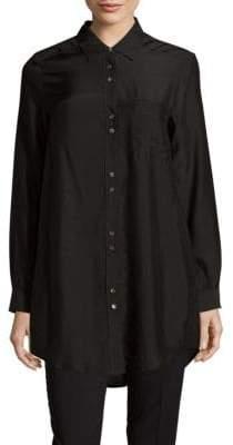 Leo & Sage Button-Down Point Collar Tunic