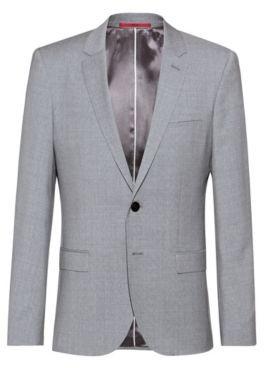 HUGO Extra-slim-fit jacket in patterned virgin wool