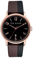 Ted Baker 'Modern Vintage' Leather Strap Watch, 42Mm