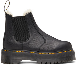 Dr. Martens Black 2976 Quad Faux-Fur Lined Boots