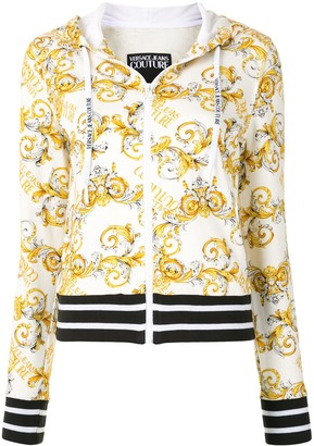 Versace Jeans Couture Logo Print Zip-Up Hoodie