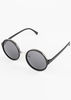 Missy Empire Holly Black Tinted Round Sunglasses