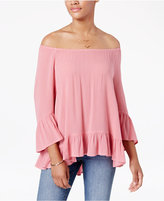 Style&Co. Style & Co Ruffle-Hem Peasant Top, Only at Macy's