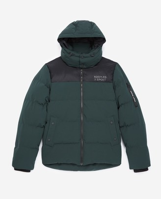 The Kooples Quilted bottle green down jacket