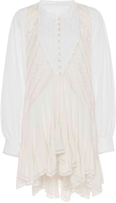 Isabel Marant Yacolt Ruffled Cotton Midi Dress