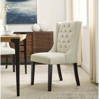 Red Barrel Studioâ® Karola Tufted Linen Upholstered Parsons Chair Red Barrel StudioA Upholstery Color: Beige