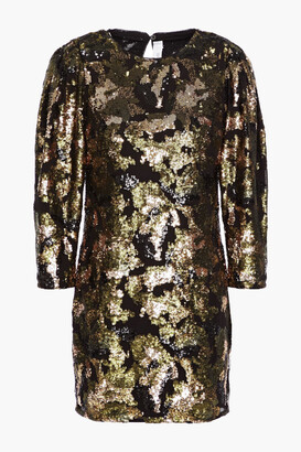 IRO Binxie Sequin-embellished Chiffon Mini Dress
