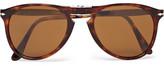 Persol 714 Folding D-Frame Tortoiseshell Acetate Sunglasses