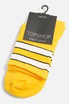 Orange sporty tubes ankle socks