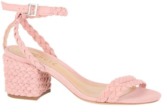 Schutz Kandy Braided Leather Sandals