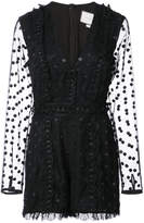 Alexis lace embroidered playsuit