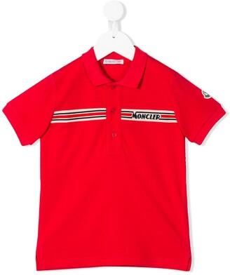 Moncler Enfant Short Sleeve Knitted-Logo Polo Shirt