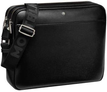 Montblanc 4810 Westside Zip-Top Leather Messenger Bag
