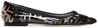 Fendi Black PVC Colibri Ballerina Flats