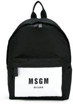 MSGM logo print backpack - men - Polyamide/Polyester - One Size