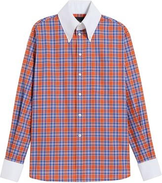Marc Jacobs Checked Contrast-Trimmed Shirt