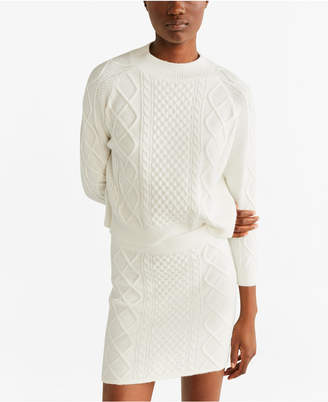 MANGO Knitted Miniskirt