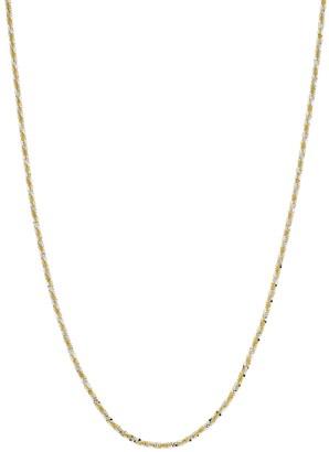 Primavera 24k Gold Over Silver Sparkle Chain Necklace