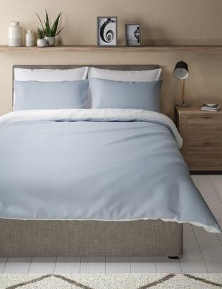 Marks and Spencer Micro Striped Seersucker Bedding Set