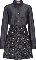 No.21 No. 21 Denim Linen Alice Shirt Dress