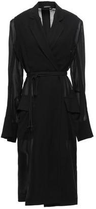 Ann Demeulemeester Satin-paneled Wool-blend Jacket