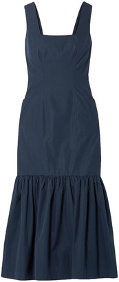 Derek Lam Gathered Cotton-taffeta Midi Dress