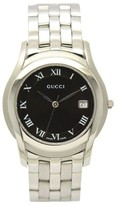 Gucci 5500M Stainless Steel Date Black Dial Quartz 35mm Mens Watch