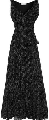 Diane von Furstenberg Belinda Printed Silk-georgette Maxi Wrap Dress