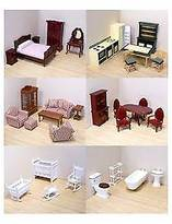 Melissa & Doug ; Classic Victorian Wooden and Upholstered Dollhouse Furni...