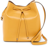 Lodis Gail Medium Leather Drawstring Bag