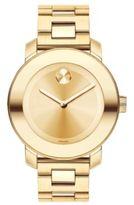 Movado Bold Goldtone IP Stainless Steel Bracelet Watch/36MM