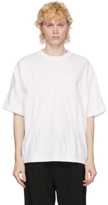 N.Hoolywood White Staple Front T-Shirt